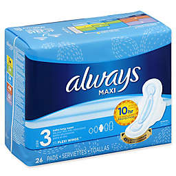 Always Maxi 26-Count Size 3 Extra Long Super Pads with Flexi-Wings