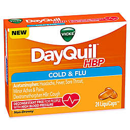 Vicks® Dayquil® 24-Count HBP Cold and Flu LiquiCaps