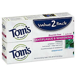 Tom's of Maine® 2-Pack 5.5 oz. Antiplaque & Whitening Toothpaste in Peppermint