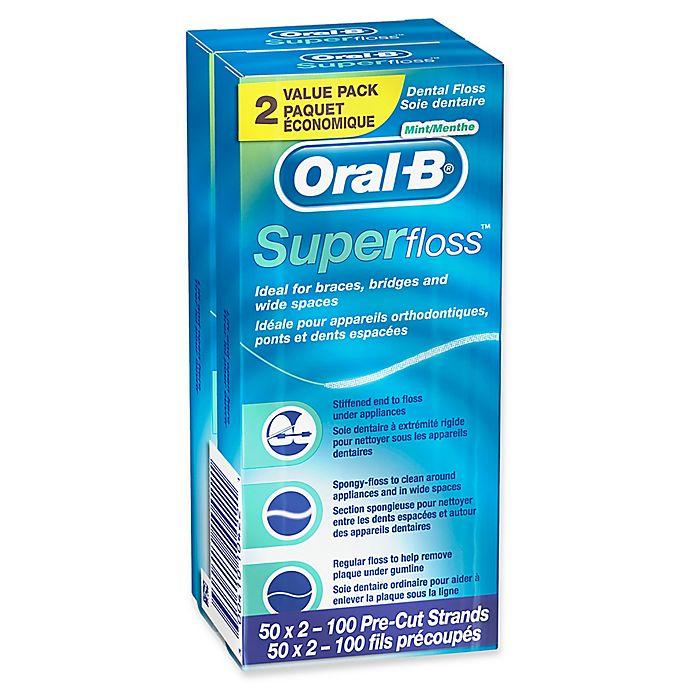 Alternate image 1 for Oral-B® Super Floss™ 2-Pack 50-Count Mint Dental Floss