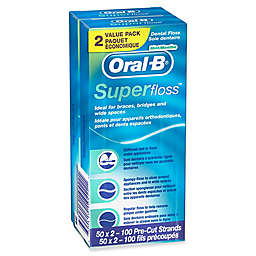 Oral-B® Super Floss™ 2-Pack 50-Count Mint Dental Floss