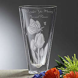 Springtime Moments Etched Crystal Vase