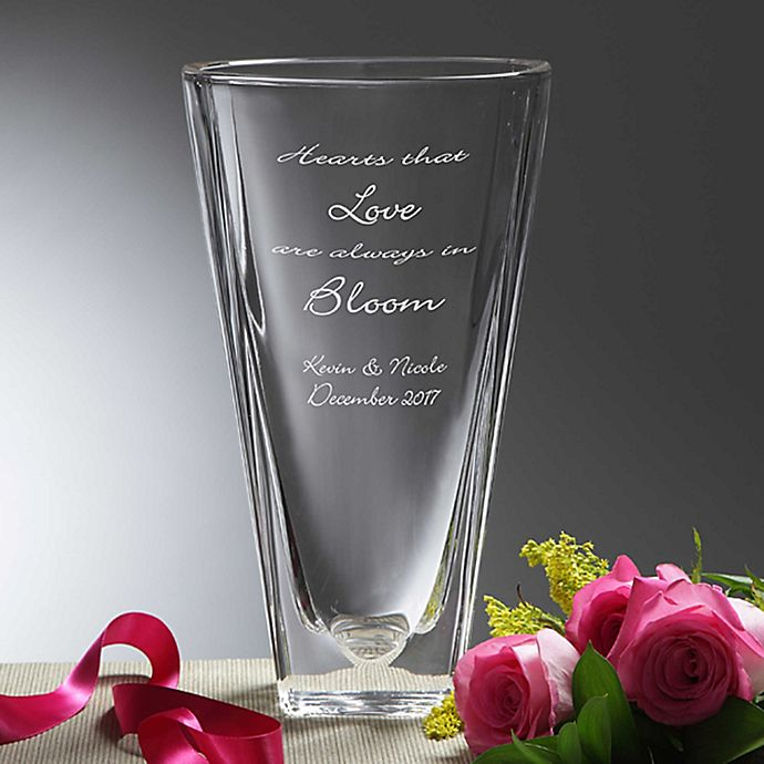 Alternate image 1 for Love In Bloom Crystal Vase