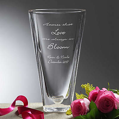Love In Bloom Crystal Vase