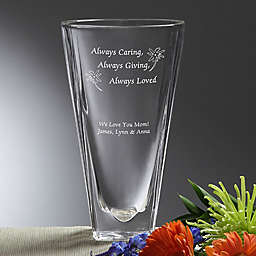 Always Loved Etched Crystal Vase