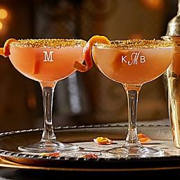 Classic Celebrations Monogram Cocktail Coupe Glass