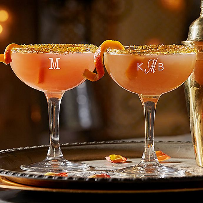 Alternate image 1 for Classic Celebrations Monogram Cocktail Coupe Glass