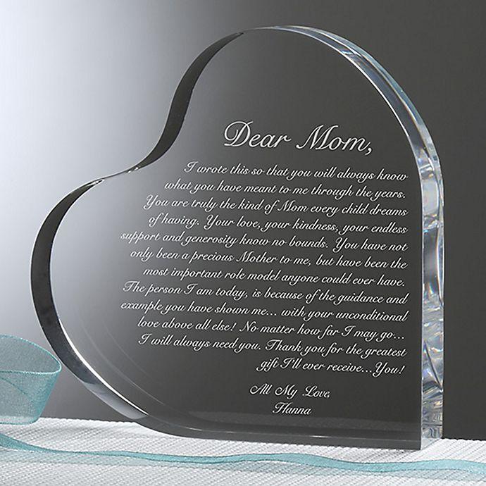 Alternate image 1 for A Letter To Mom Heart Keepsake