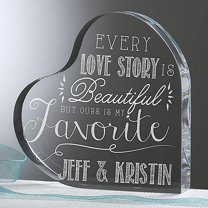 Alternate image 1 for Love Quotes Heart Keepsake