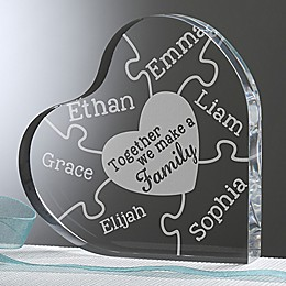 Together We Make A Family Heart Keepsake