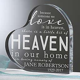 Heaven In Our Home Memorial Heart Keepsake