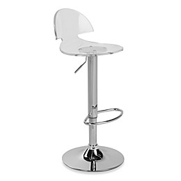 LumiSource Venti Acrylic Bar Stool in Clear