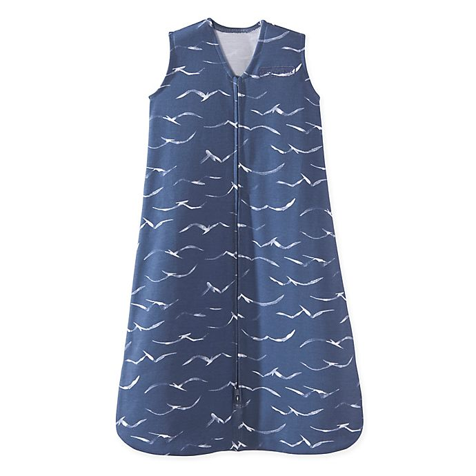 Alternate image 1 for HALO® SleepSack® Medium Birds Wearable Blanket in Navy