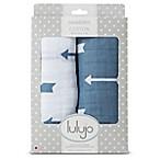 Lulajo Baby 2-Pack Arrows Muslin Swaddle Blanket Set  in White