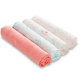 aden + anais™ essentials Full Bloom 4-Pack Cotton Muslin Swaddle Blankets