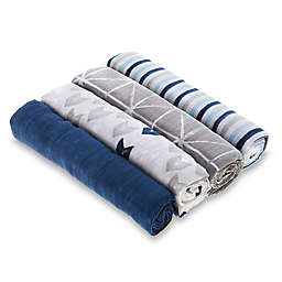 aden + anais™ essentials Denim Wash 4-Pack Cotton Muslin Swaddle Blankets