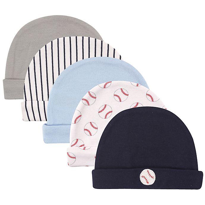 Alternate image 1 for Luvable Friends® 5-Pack Size 0-6M Baseball Infant Caps