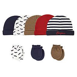 Hudson Baby® Size 0-6M 8-Piece Bonjour Cap and Scratch Mitten Set
