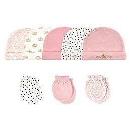 Hudson Baby® Size 0-6M 8-Piece Tiara Cap and Scratch Mitten Set
