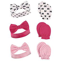 Hudson Baby® 6-Piece Headband and Mitten Set in Pink
