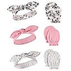 Hudson Baby® 6-Piece Floral Headband and Mitten Set