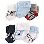 Luvable Friends® Size 0-3M 6-Pack Boy Shoes Baby Socks