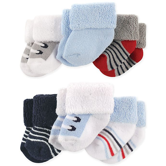 Alternate image 1 for Luvable Friends® Size 0-3M 6-Pack Boy Shoes Baby Socks