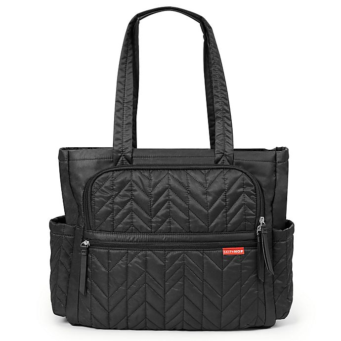 Alternate image 1 for SKIP*HOP® Forma Pack & Go Diaper Tote in Black