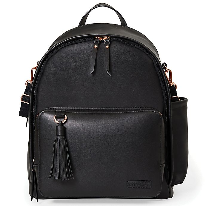 Alternate image 1 for SKIP*HOP® Greenwich Simply Chic Backpack Diaper Bag in Black