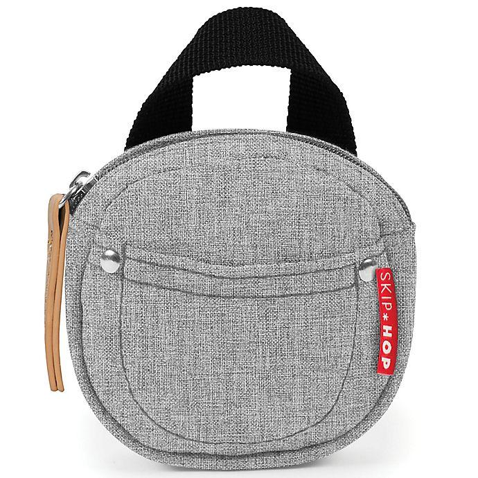 Alternate image 1 for SKIP*HOP® Grab & Go Pacifier Pocket in Grey Melange
