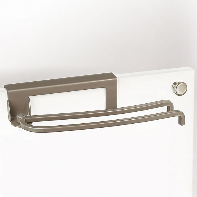 Alternate image 1 for Lynk Over-the-Door Pivoting Towel Bar in Satin Nickel