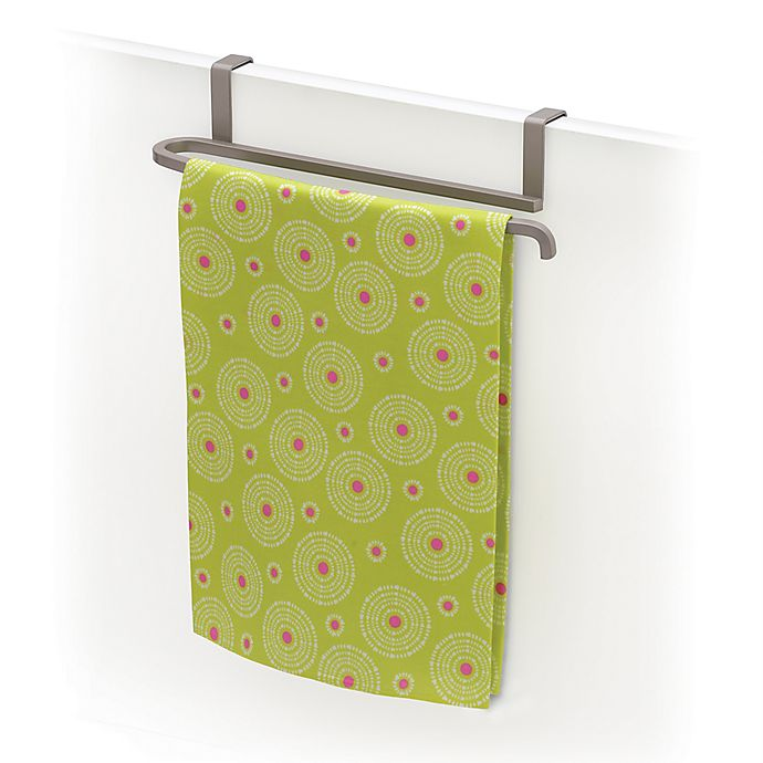 Alternate image 1 for Lynk Over-the-Door Towel Bar in Satin Nickel