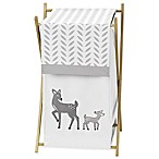 Sweet Jojo Designs Forest Deer Laundry Hamper in White/Grey