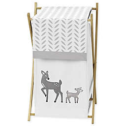 Sweet Jojo Designs Forest Deer Laundry Hamper in White/Grey