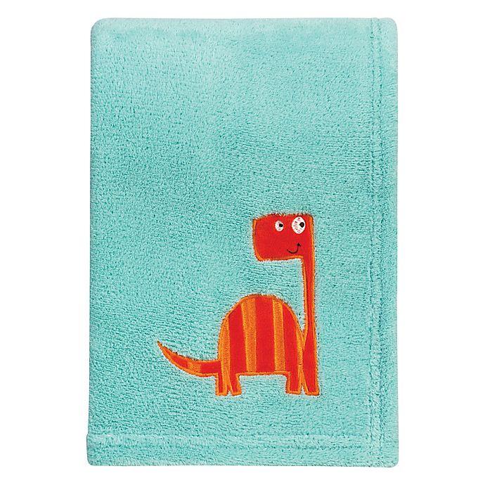 Alternate image 1 for Trend Lab® Dinosaur Roar Plush Blanket in Green