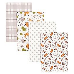 Trend Lab® 4-Pack Wild Bunch Flannel Receiving Blankets