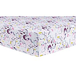 Trend Lab® Cool Cats Flannel Fitted Crib Sheet
