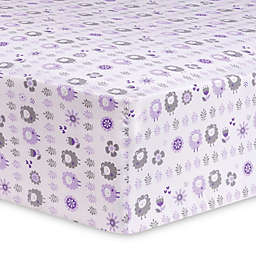 Trend Lab Lambs and Flowers Fitted Crib Sheet