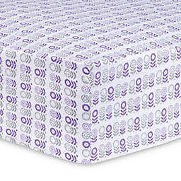 Trend Lab Scandi Flowers Fitted Crib Sheet