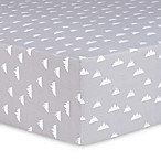 Trend Lab® Mountains Flannel Fitted Crib Sheet in Grey