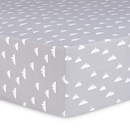 Trend Lab® Mountains Fitted Crib Sheet in Grey