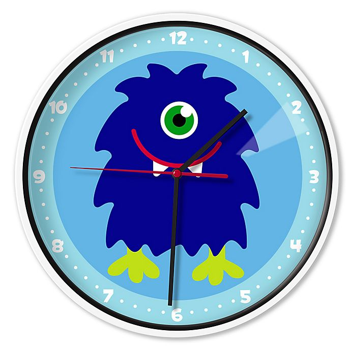 Alternate image 1 for Olive Kids™ Monsters Wall Clock