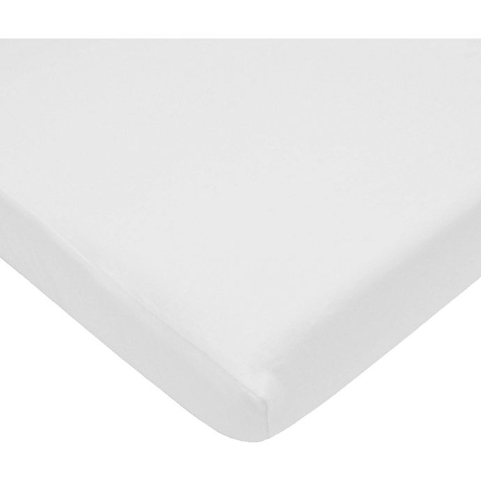 Alternate image 1 for Pam Grace Creations Fitted Crib Sheets in White (Set of 2)
