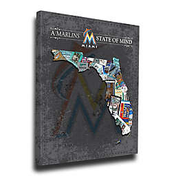 MLB Miami Marlins Florida State of Mind Canvas Print Wall Art