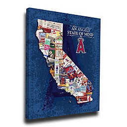 MLB Los Angeles Angels California State of Mind Canvas Print Wall Art