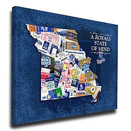 MLB Kansas City Royals Missouri State of Mind Canvas Print Wall Art
