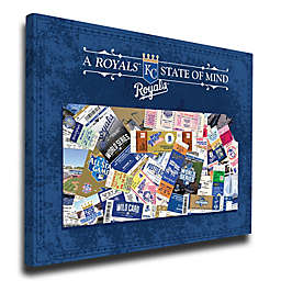 MLB Kansas City Royals Kansas State of Mind Canvas Print Wall Art
