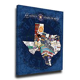 MLB Houston Astros Texas State of Mind Canvas Print Wall Art