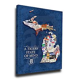 MLB Detroit Tigers Michigan State of Mind Canvas Print Wall Art