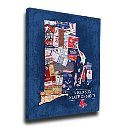 MLB Boston Red Sox Rhode Island State of Mind Canvas Print Wall Art